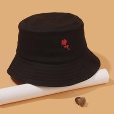 Мужская шляпа с вышивкой цветка Shein