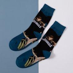 Мужские носки с мультипликационным принтом Shein
