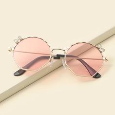 Детские солнцезащитные очки в металлической оправе с бантом Shein
