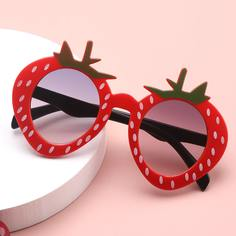 Детские солнцезащитные очки в оправе с фруктами Shein