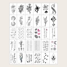 30 листов тату-наклейка с цветочным узором Shein