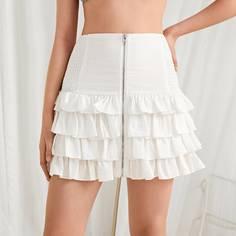 Многослойная юбка на молнии Shein