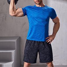Мужская спортивная футболка с рукавом реглан Shein