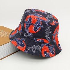 Мужская шляпа с принтом рыбы Shein