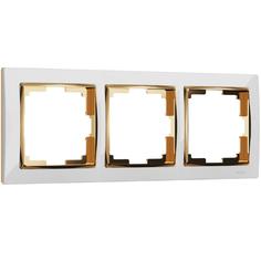 Рамка на 3 поста (белый/золото) Werkel W0031933