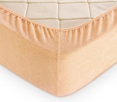Простыня махровая на резинке 90х200, крем Текс Дизайн