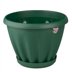"""Горшок """"Знатный"""", 6,7 литра (темно-зеленый) ФлораПласт люкс"""