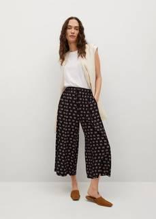 Струящиеся брюки с принтом - Life Mango