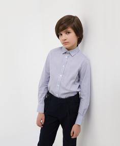 Сорочка в голубую полоску с длинным рукавом Gulliver
