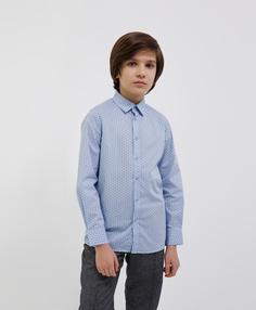 Сорочка голубая с длинным рукавом Gulliver