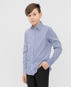 Сорочка голубая в полоску Button Blue