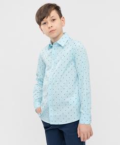 Сорочка голубая Button Blue