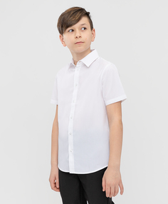 Сорочка белая с коротким рукавом Button Blue