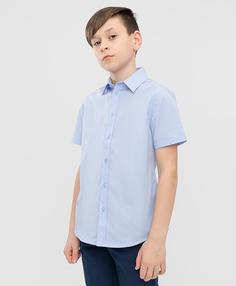 Сорочка голубая с коротким рукавом Button Blue