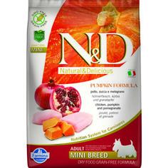 Сухой корм Farmina N&D Adult Dog Mini GF Pumpkin Chicken & Pomegranate беззерновой с курицей гранатом и тыквой для собак мелких пород 7кг