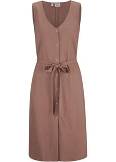 Платье изо льна с поясом Bonprix