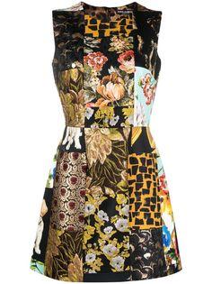 Dolce & Gabbana жаккардовое платье мини со вставками
