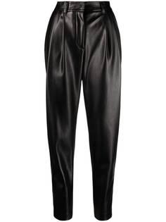 Ermanno Ermanno зауженные брюки из искусственной кожи