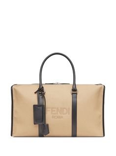 Fendi дорожная сумка с логотипом