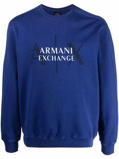Armani Exchange пуловер с логотипом