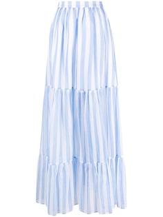 MSGM юбка макси в полоску