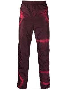 Acne Studios спортивные брюки с принтом тай-дай