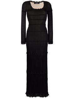 Dsquared2 трикотажное платье макси с оборками