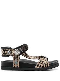 ASH сандалии Ugo с ремешками на липучках