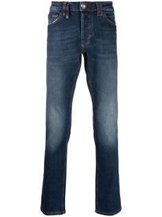 Philipp Plein джинсы Super Straight с эффектом потертости