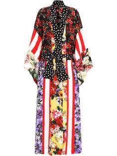 Dolce & Gabbana длинное пальто с принтом