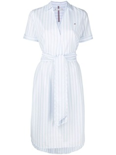 Tommy Hilfiger полосатое платье-рубашка с поясом