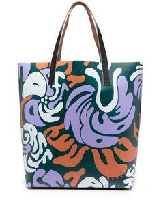 Marni сумка-тоут с абстрактным принтом
