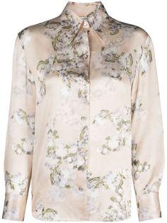 Vince рубашка с цветочным принтом
