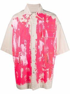 Marni джинсовая рубашка с эффектом разбрызганной краски