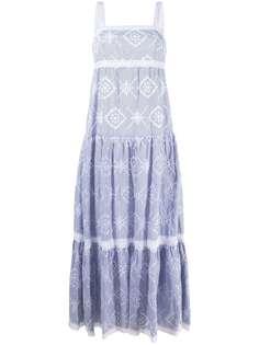 TWINSET платье макси с английской вышивкой