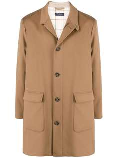 Loro Piana однобортное пальто длины миди