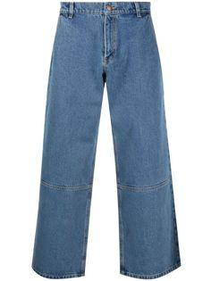 PACCBET широкие джинсы с нашивкой-логотипом