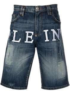 Philipp Plein джинсовые шорты Iconic Plein St. Tropez