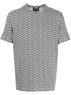 Emporio Armani футболка с узором шеврон