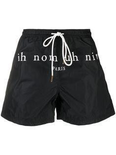 Ih Nom Uh Nit плавки-шорты с логотипом
