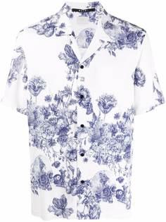 Ksubi рубашка с короткими рукавами и цветочным принтом