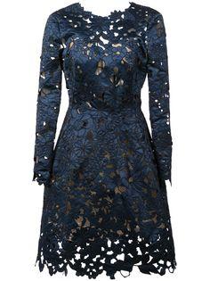 Oscar de la Renta коктейльное платье из цветочного кружева