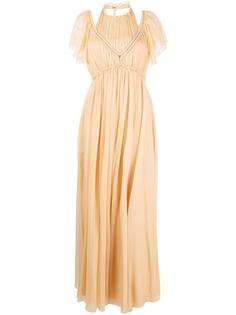 Alberta Ferretti вечернее платье с вырезом халтер
