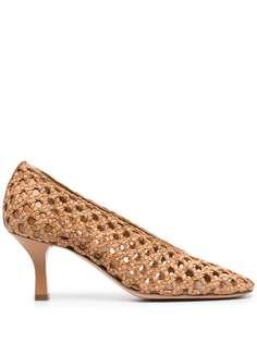 Casadei плетеные туфли-лодочки