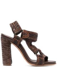 Casadei босоножки на блочном каблуке