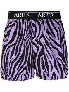 Aries боксеры с зебровым принтом и логотипом