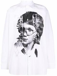 Raf Simons рубашка с фотопринтом и длинными рукавами
