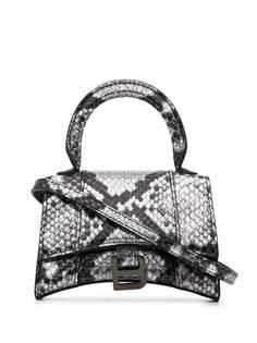 Balenciaga мини-сумка с тиснением под кожу змеи