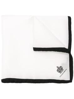 Dolce & Gabbana нагрудный платок с принтом короны