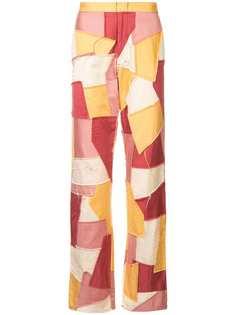 Comme Des Garçons Pre-Owned брюки в стиле пэчворк
